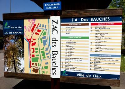 Panneau information zone
