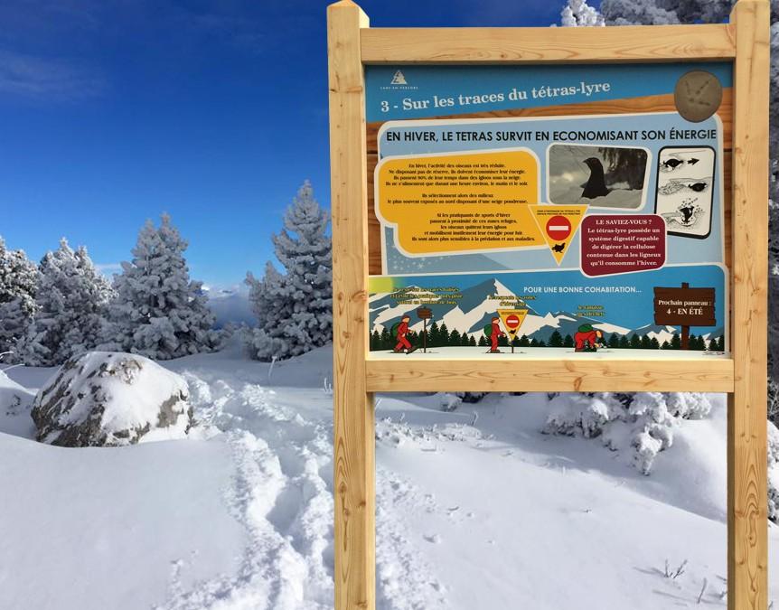 Nouveaux panneaux à Lans en Vercors Domaine Skiable