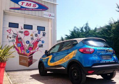 Décoration véhicules auto-école