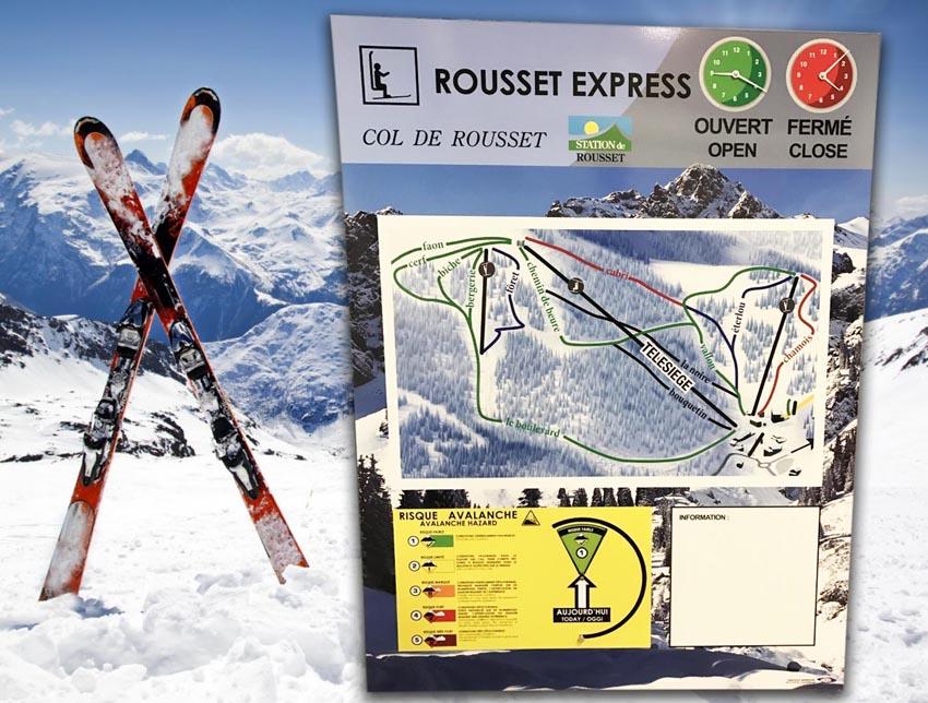 Panneaux d'information le Col de Rousset