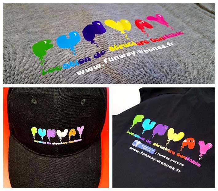 Personnalisation textile coloré