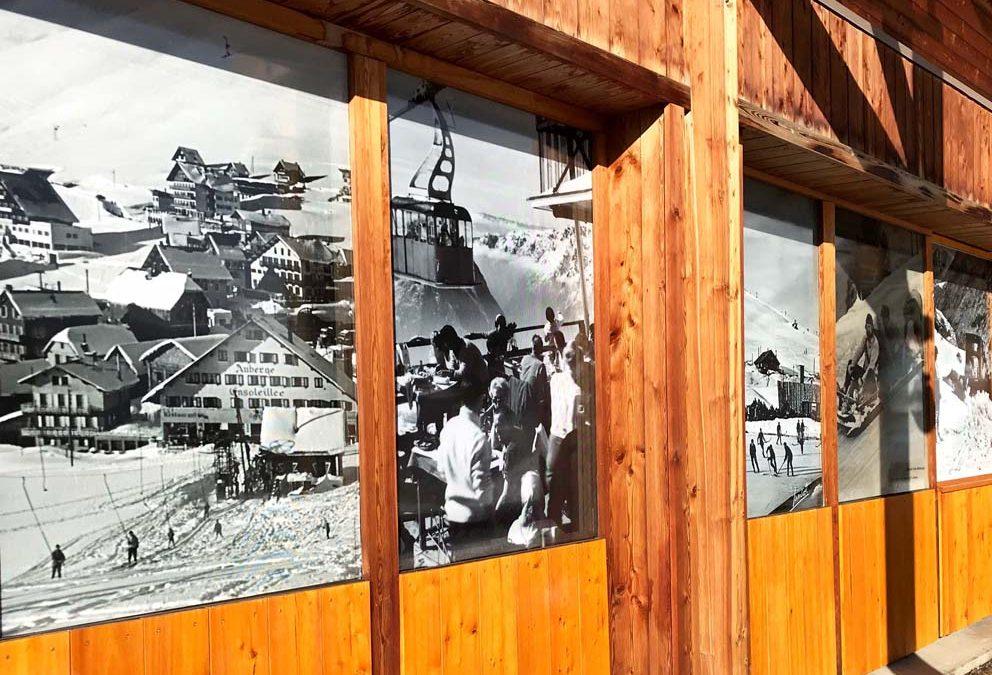 Décoration sur vitres à L'Alpe d'Huez