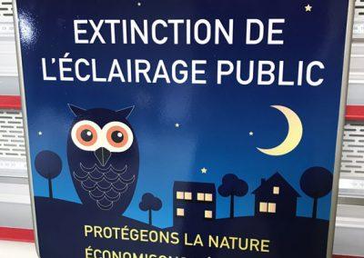 Panneaux : Extinction de l'éclairage public