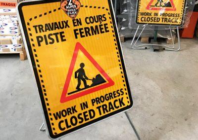 Panneaux de chantier sur-mesure
