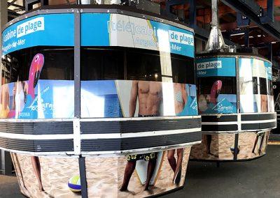 Décoration [télé]cabine de plage
