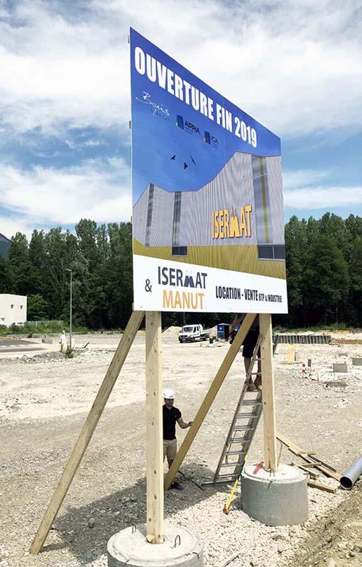 Panneau de chantier ISERMAT