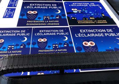 Panneaux : Extinction nocturne de l'éclairage public