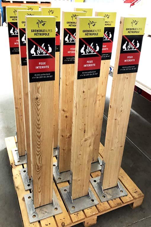 Poteaux bois