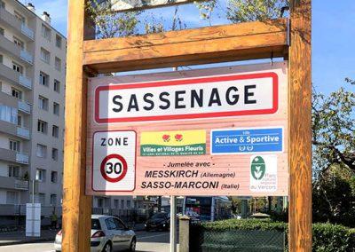 Nouvelles entrées de ville de SASSENAGE