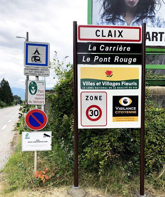 NOUVELLES ENTRÉES DE VILLE POUR CLAIX